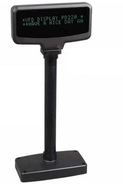 Element CDU SD220 VFD Pole Display, 20 Column X Line Dot Matrix, USB, Black