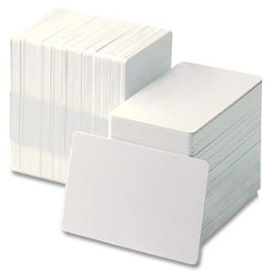 ZEBRA CARDS PVC 30MIL PLAIN 500/BOX WHI